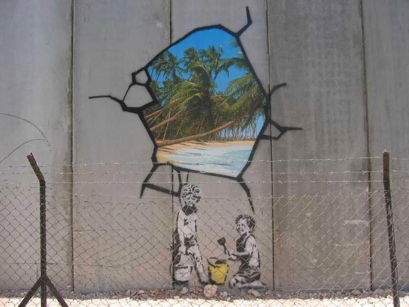 Banksy graffiti in Gaza