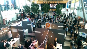 Exhibitors at Bitcoin 2014 in Amsterdam
