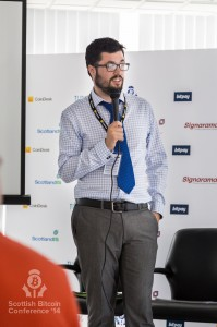 Lui Smyth (CoinJar) addresses the Scottish Bitcoin Conference, 23rd August 2014