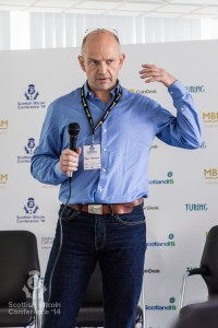 Sveinn Valfells addresses the Scottish Bitcoin Conference, 23rd August 2014