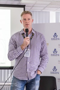 Nick Lambert, COO MaidSafe addresses the Scottish Bitcoin Conference, 23rd August 2014