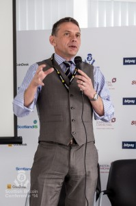 Scott Maxwell addresses the Scottish Bitcoin Conference, 23rd August 2014